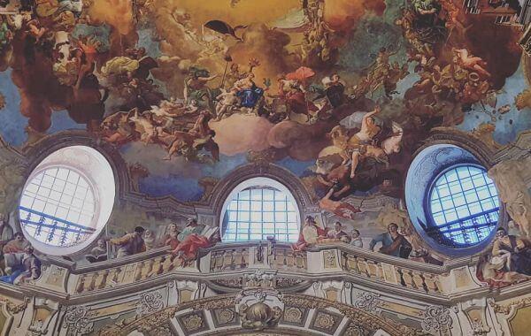 Wiedeń Austriacka Bibilioteka Narodowa - freski