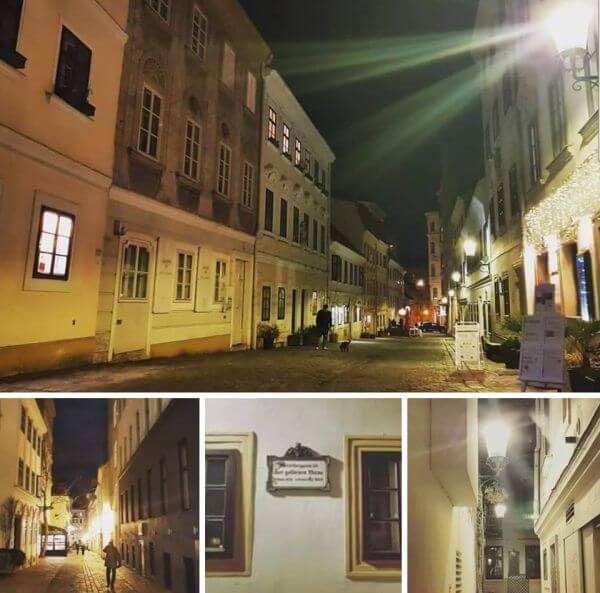 Wiedeń Spittelberg noc