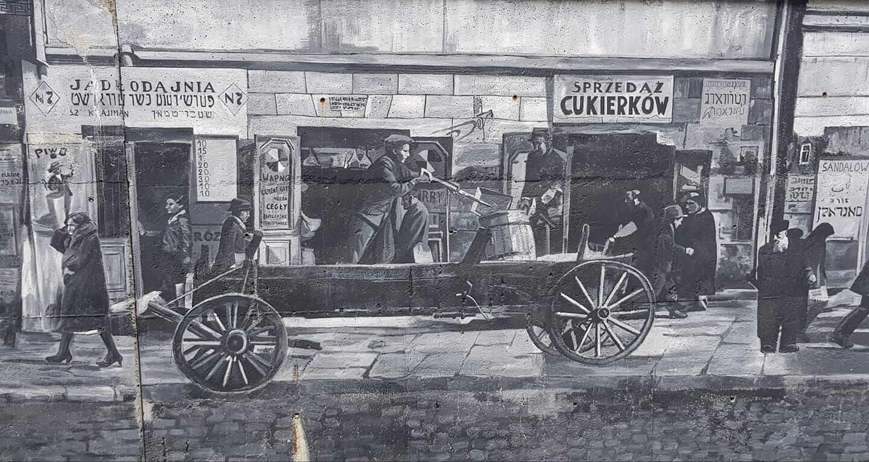 Mural zamkowe tarasy