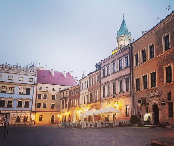 Lublin Rynek wieczorem