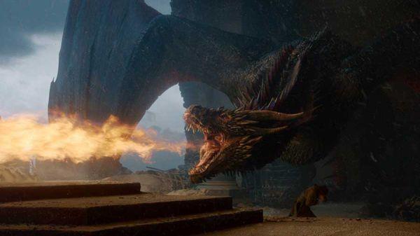 Dragon melts iron throne
