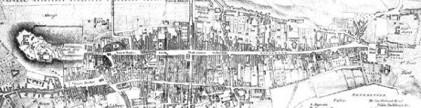 Stara mapa Edynburga